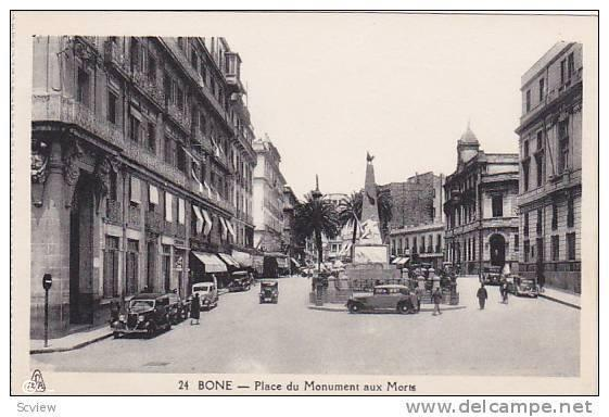 Bône - Place du Monument aux Morts